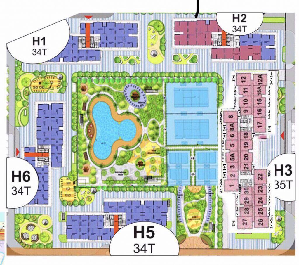 vị trí tòa h5 vincity sportia