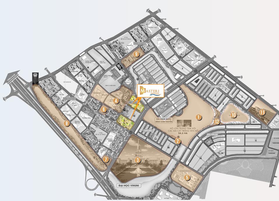 vị trí dự án masteri waterfront