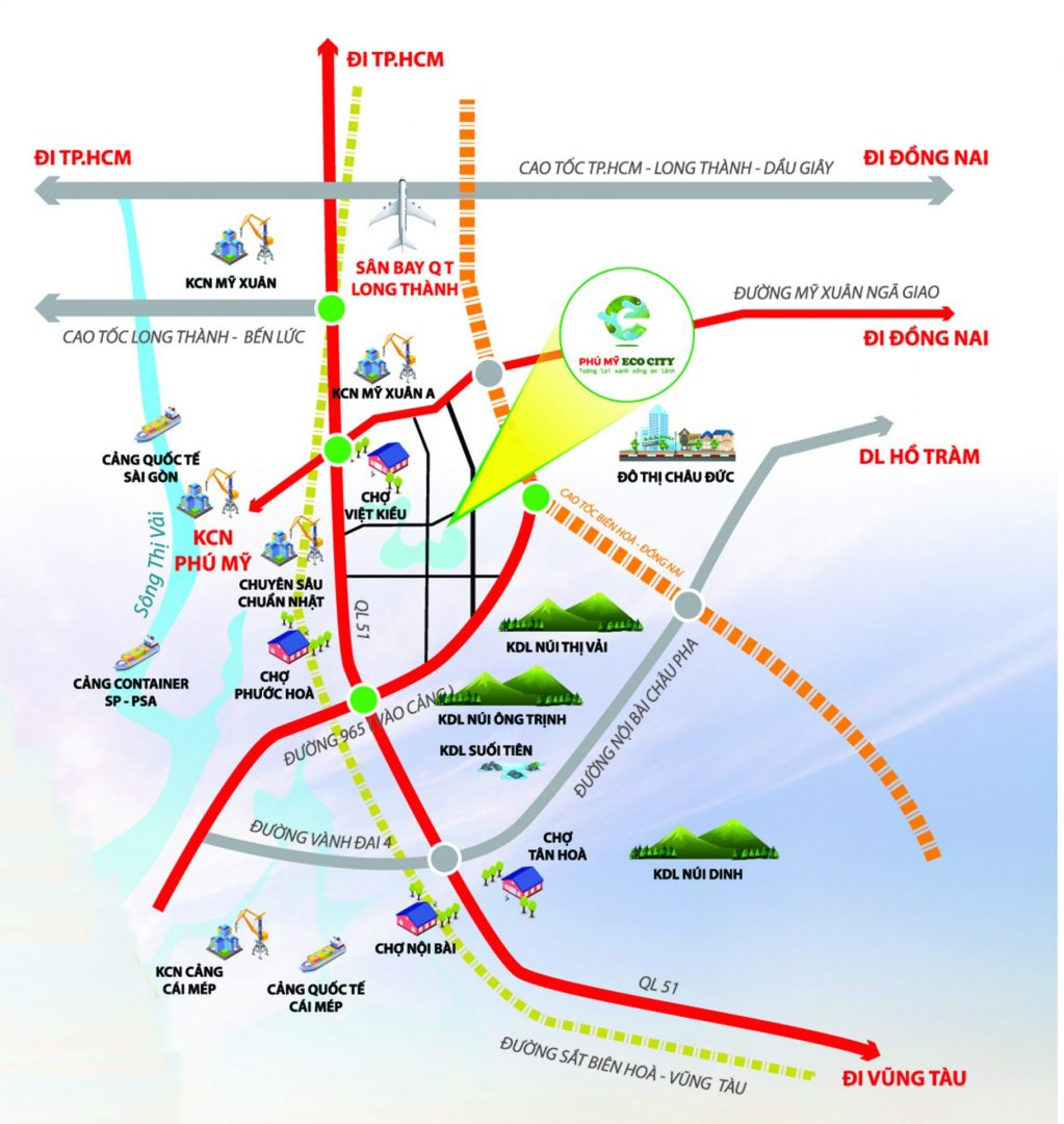 vị trí dự án phú mỹ eco city