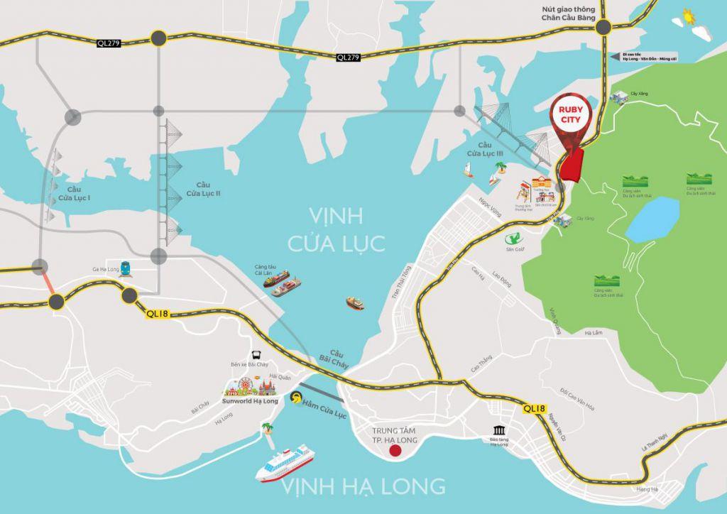 vị trí dự án ruby city ha long