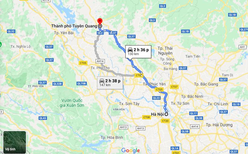 Vị trí dự án Spring Hills Tuyên Quang