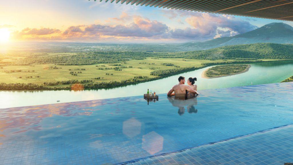 bể bơi dự án wyndham lynn times thanh thủy