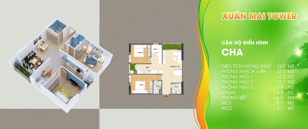 thiết kế căn hộ loại a chung cư xuân mai tower thanh hóa
